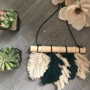 Feathered macrame wall hanging OBO
